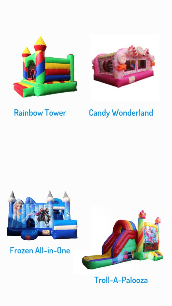 Bounce O Rama rainbow tower