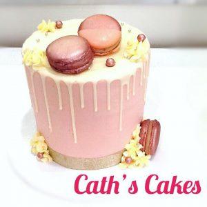 Caths Cakes macarons cake