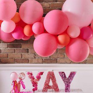 Ruby Rabbit Partyware balloon garland pink