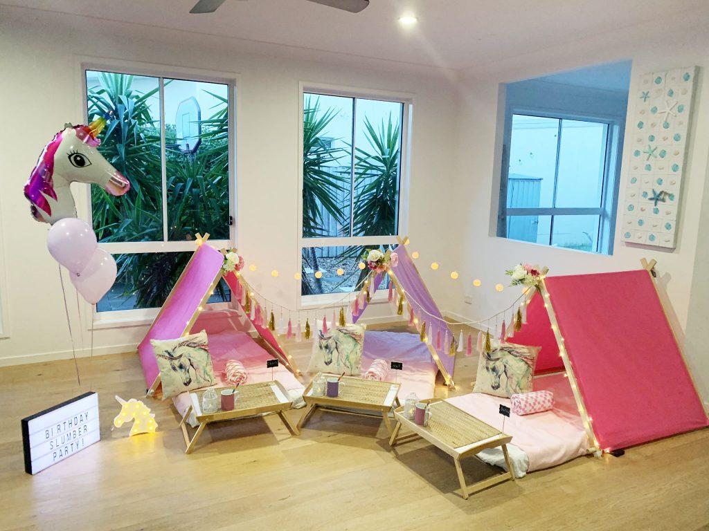 My Slumber Party Sydney unicorn theme
