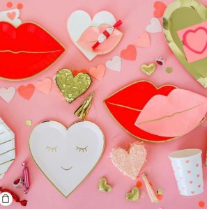 Ruby Rabbit Partyware Valentine's day