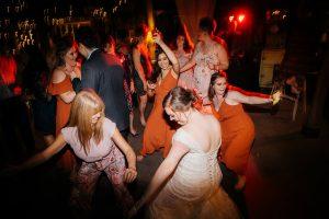 DJ James Cross Briony Ryan dancing