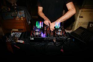 DJ James Cross Briony Ryan mixing