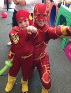 Kapow Parties the Flash