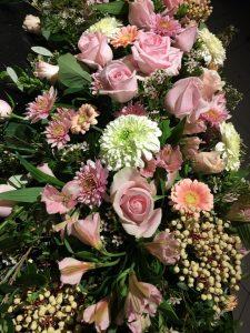 Flowers By Lynda pinks display