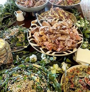 Shared Affair Catering salads table