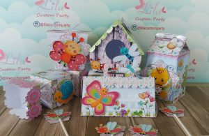 Lila Custom Party bee party boxes