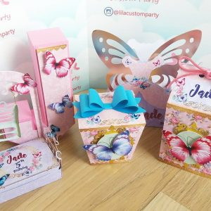 Lila Custom Party butterfly boxes