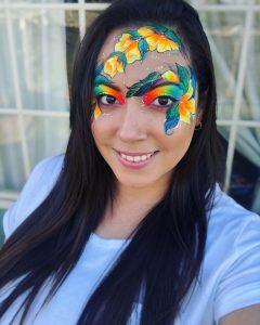 Funny Fantasy Entertainment bright flower mask