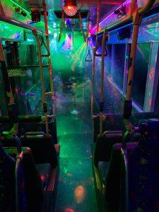 Jono's Party Bus lights on