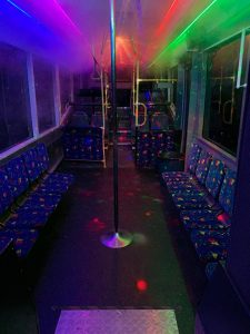 Jono's Party Bus interior