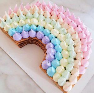 Saffy & May rainbow cake