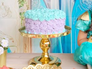 Rent A Party gold cake stand