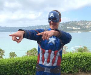 Birthday Hero Captain America