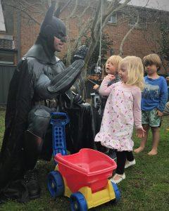 Home2Heroes Batman high five