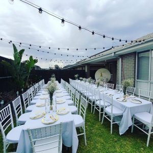 iParty Event Hire backyard settings
