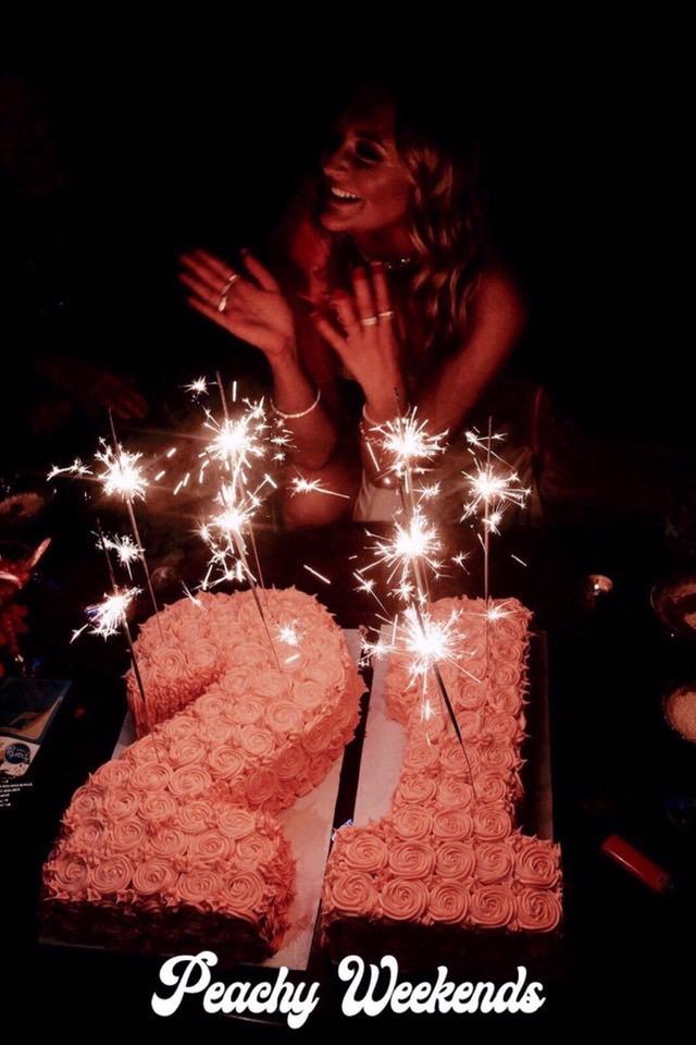 Peachy Weekends 21st cake