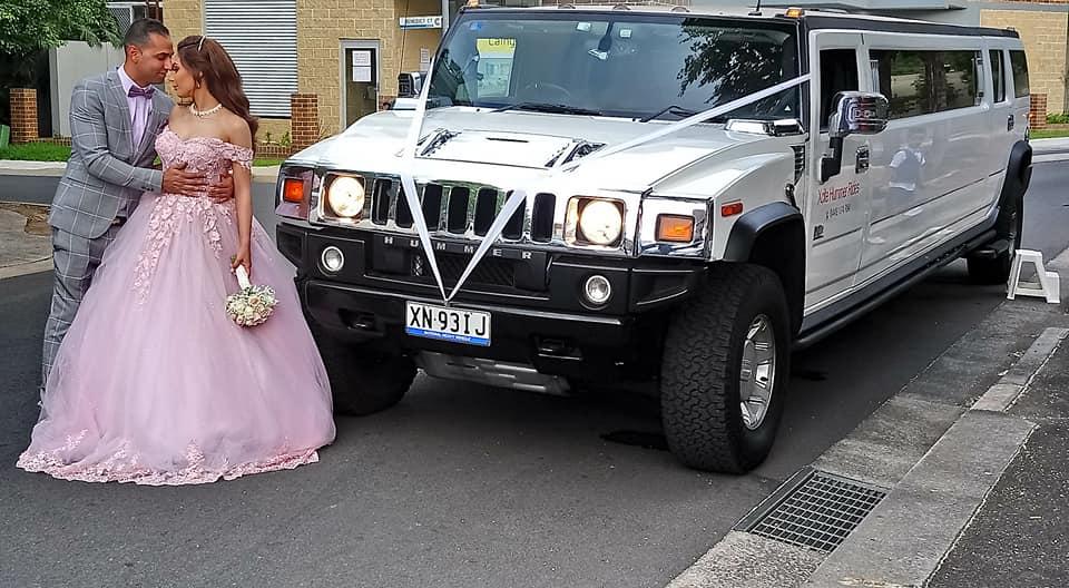 Xcite Hummer Rides wedding