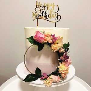Oh So Sweet Bakehouse birthday floral cake