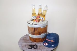 All Occassion Cakes beer bucket cake