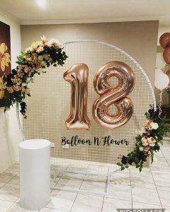 Balloon N Flower 18th wall