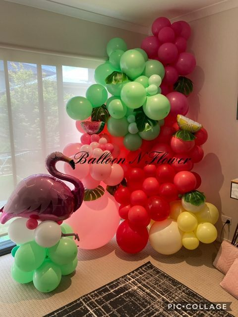 Balloon N Flower flamingo