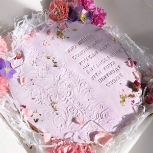 Letters By Mariam floral cookie