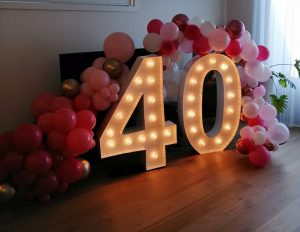 Stress Less Party Hire birthday numbers