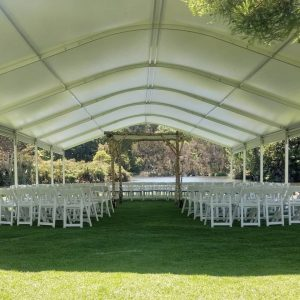 Instant Marquee Hire Melbourne outdoor ceremony