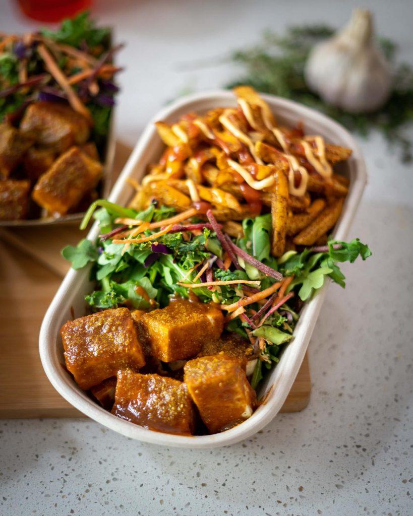 El Aleman Loco tofu curry