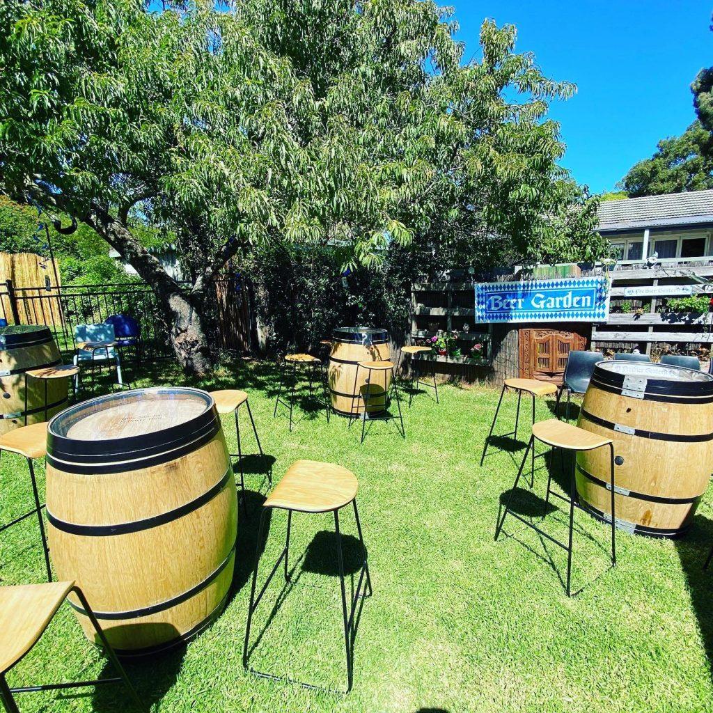 Hills Slushie And Party Hire wine barrells