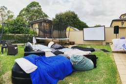 Allfriends AV Hire backyard movie night