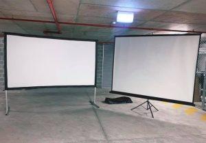 Allfriends AV Hire projector and screen