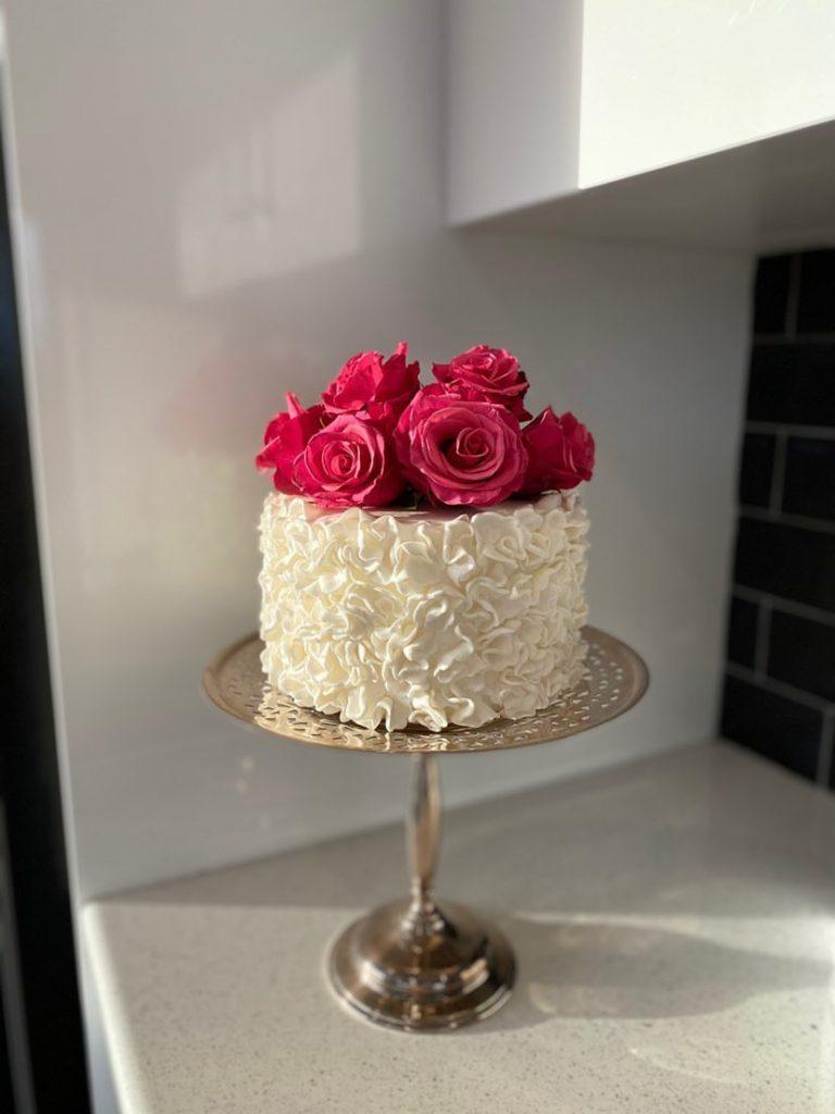 Babushka floral cake