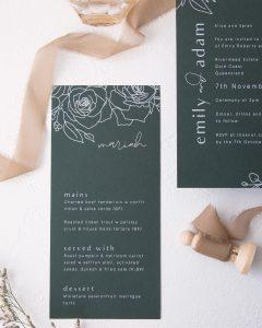 Blossie Emily & Adam menus