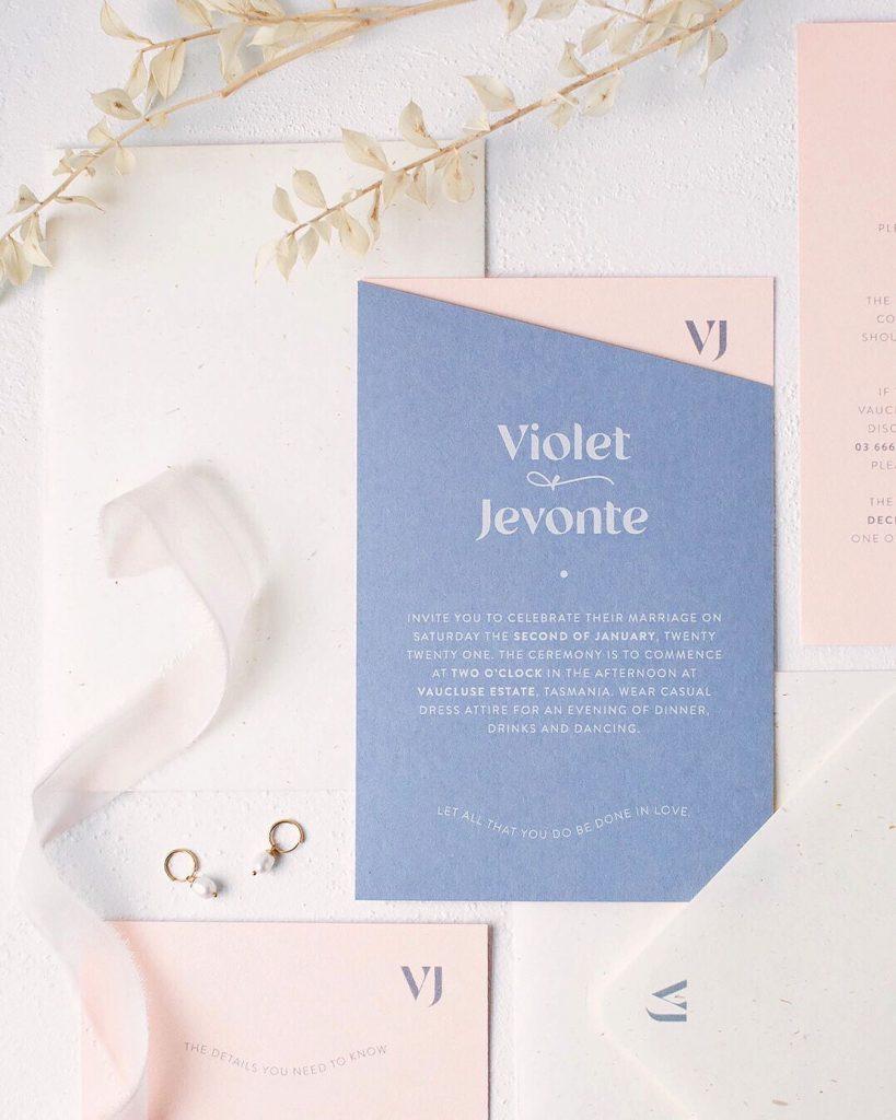 Blossie lavender invites