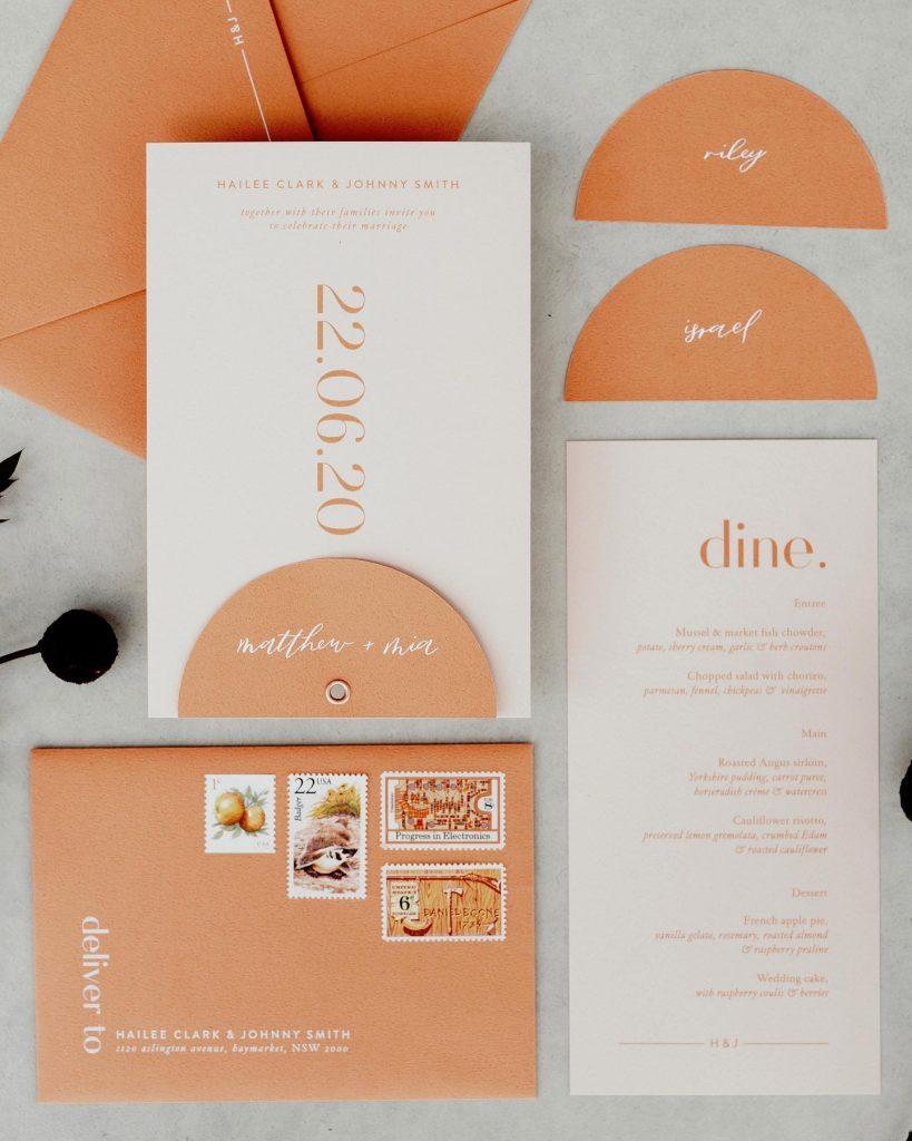 Blossie wedding invitations