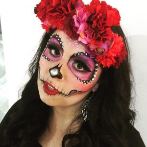 Creative Faces Day of the Dead face paint