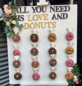 Customised By Cate donut wall