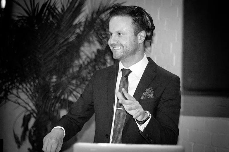 DJ andikay wedding smiles