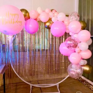 Event Hire Adelaide pink wall balloons