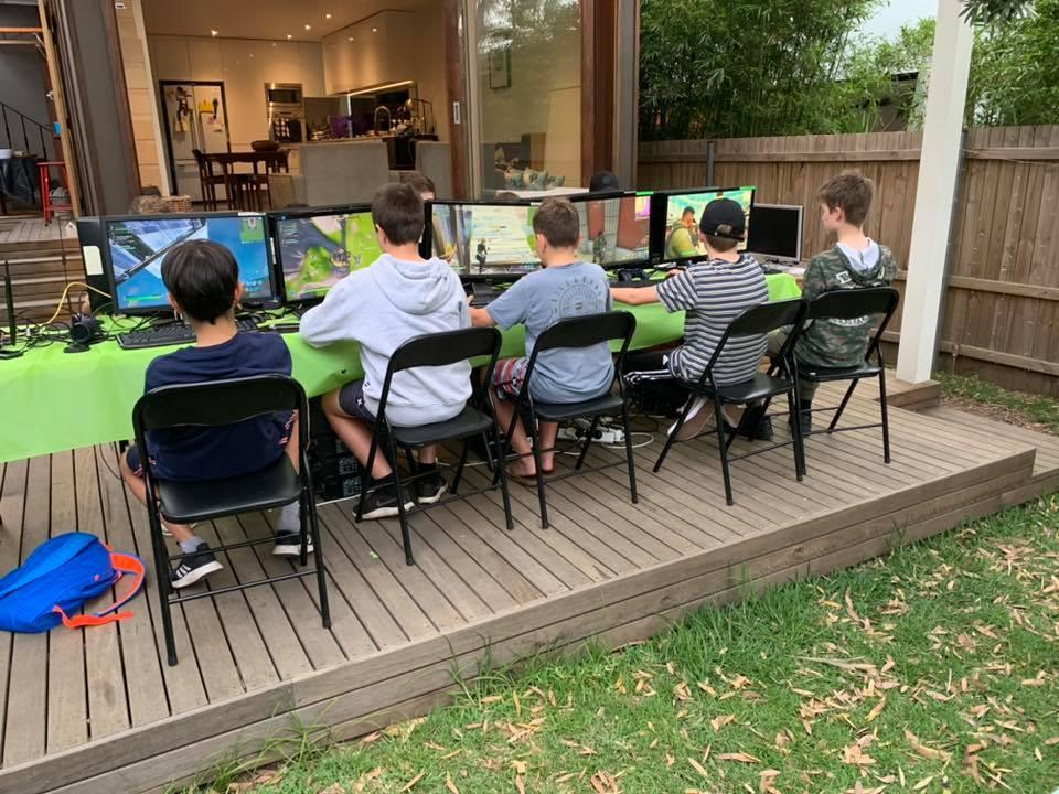 Gamer Parties outdoor gaming