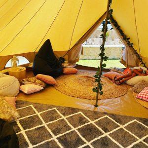 Glamping Sensations indoor tent