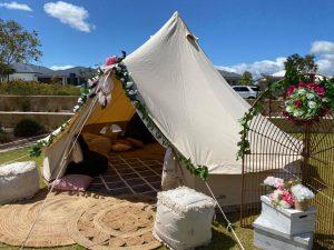Glamping Sensations outdoor tent
