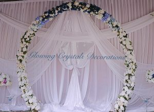 Glowing Crystals Decorations flower arch