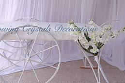 Glowing Crystals Decorations white cart