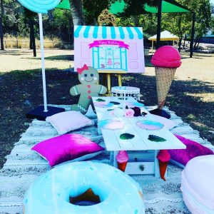 Happily Ever Laughter Party Hire sweet tooth theme