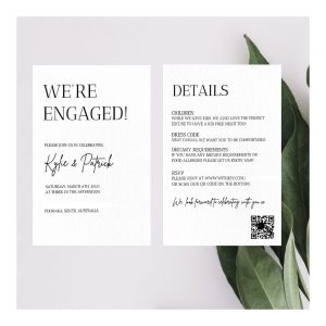 Hitched & Vibes wedding invitations