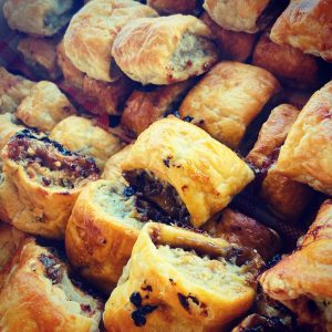 Honeysuckles English Picnic Parlour sausage rolls