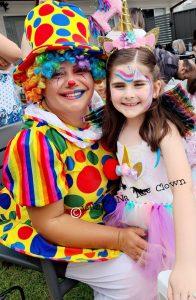 JellyBeeNa The Clown birthday girl